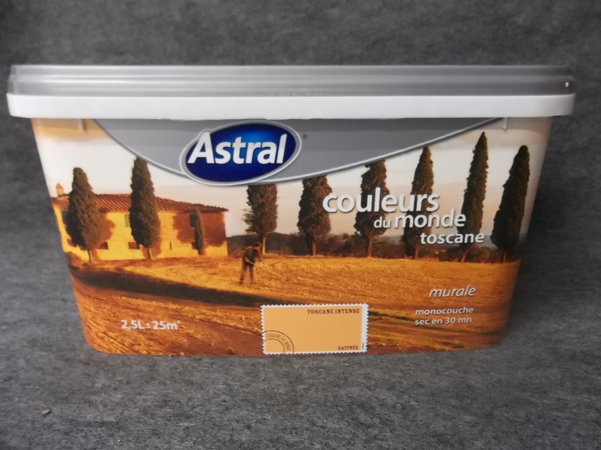peinture monocouche couleurs du monde toscane astral 2 5 l astral g 39 peint destockage de. Black Bedroom Furniture Sets. Home Design Ideas