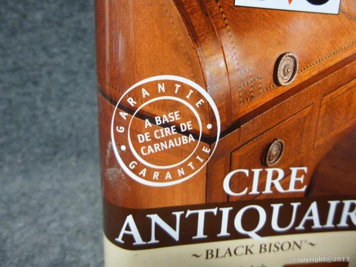 Cire antiquaire liquide black bison v33 v33 g 39 peint for Cire antiquaire black bison liquide
