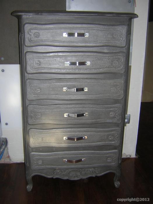 Peinture metallisee pour bois brest design for Peinture meuble bois patine