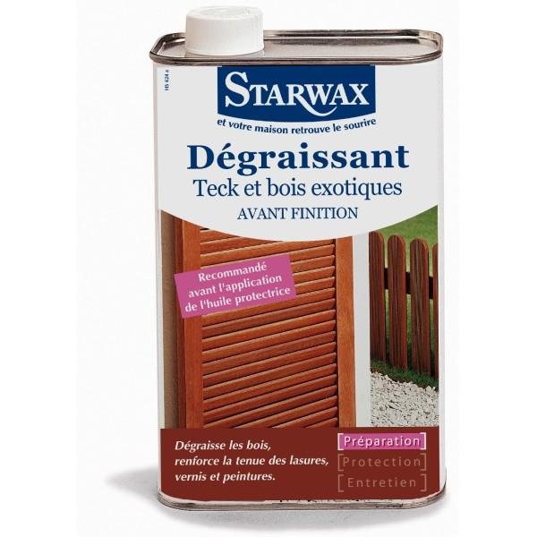 D graissant teck et bois exotiques avant finition starwax 1l starwax g 39 - Destockage bois exotique ...