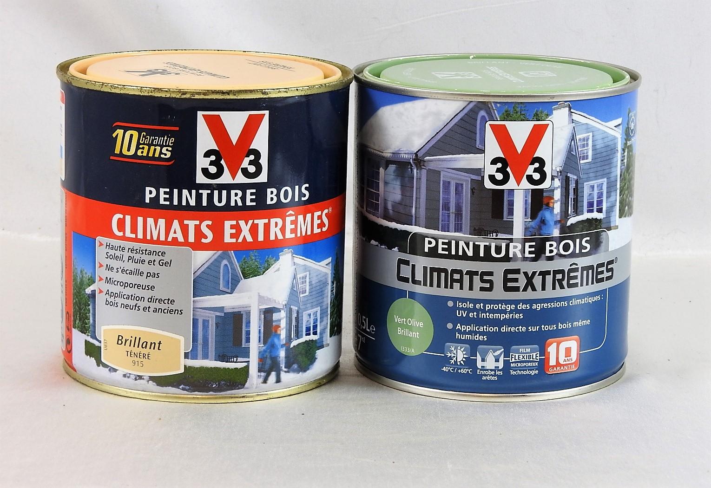 v33 peinture bois climat extreme stunning peinture fer v climats extrmes rouge basque brillant. Black Bedroom Furniture Sets. Home Design Ideas