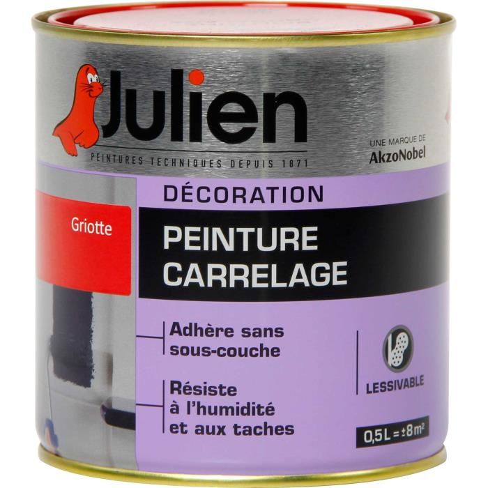 peinture carrelage sans sous couche julien 0 5l julien g 39 peint destockage de peinture lasure. Black Bedroom Furniture Sets. Home Design Ideas