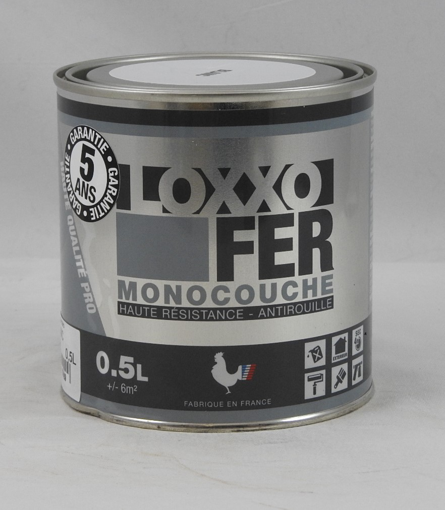peinture fer monocouche blanche antirouille loxxo 0 5l innova loxxo fer 500ml peinture lasure. Black Bedroom Furniture Sets. Home Design Ideas