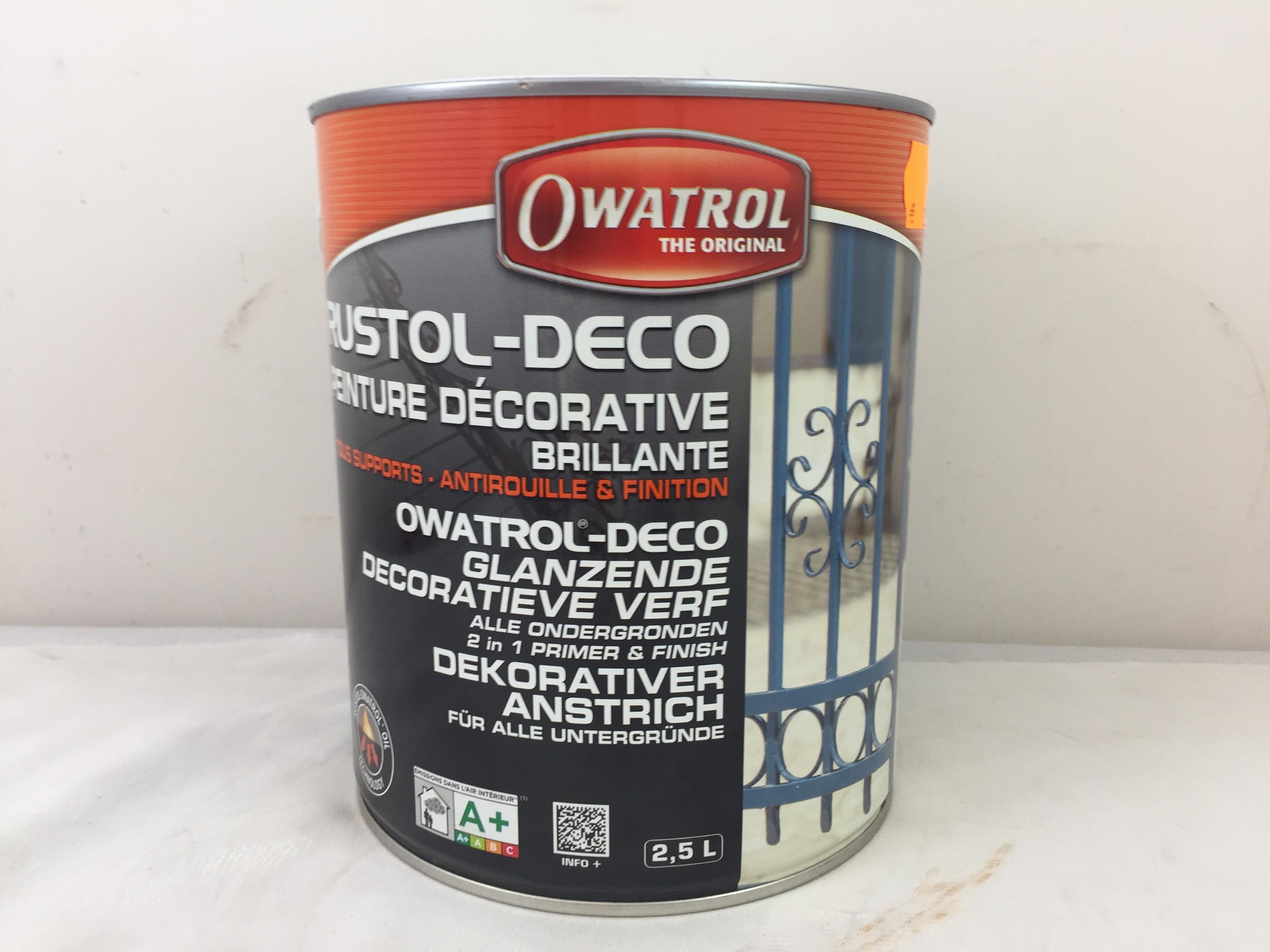 Rustol Deco Peinture Fer Antirouille Et Finition 25l Owatrol Blanc