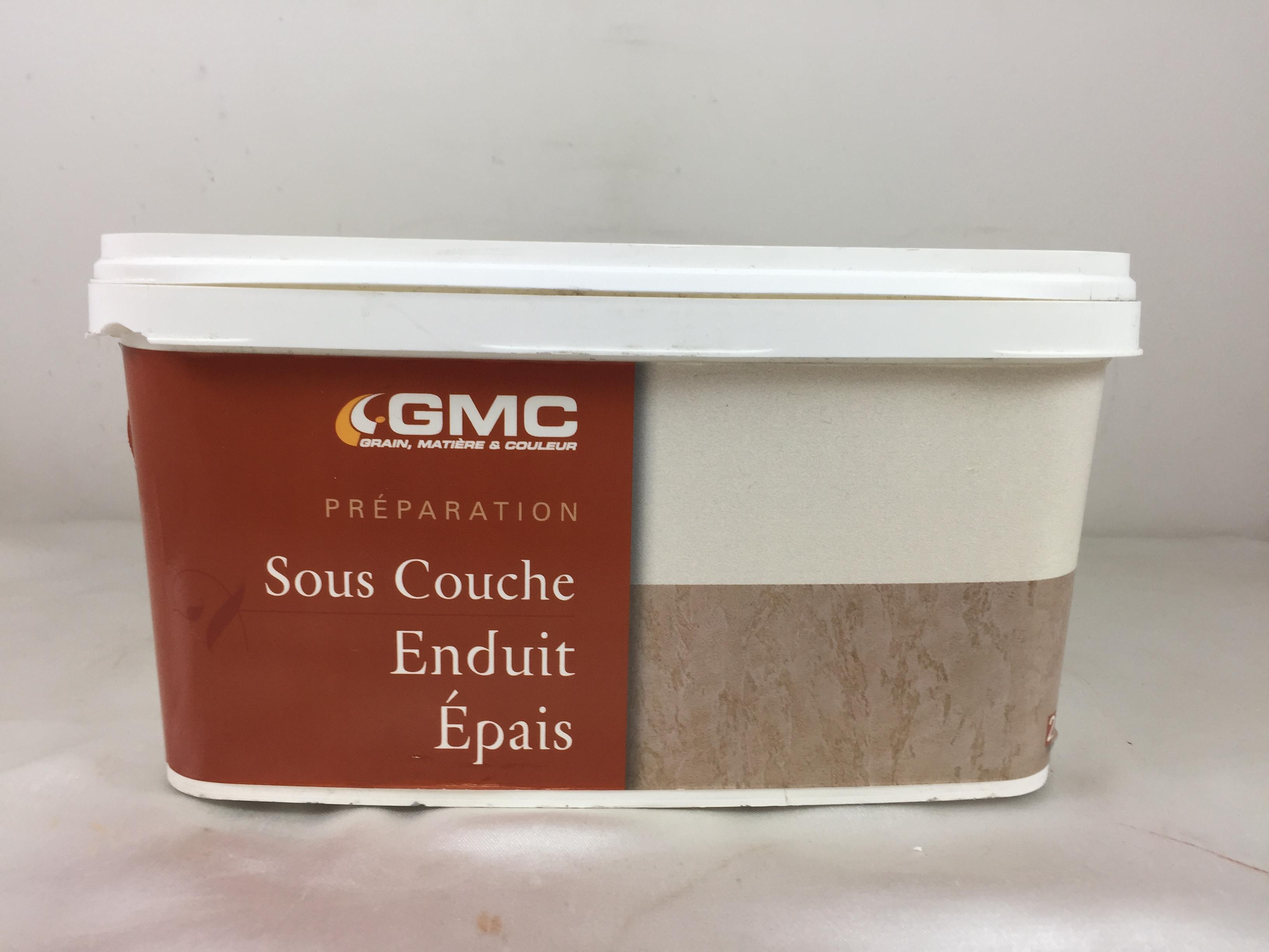 Gpeint Sous Couche Avant Enduit Épais GMC Blanc 2,5L Texture Légèrement  Granitée,