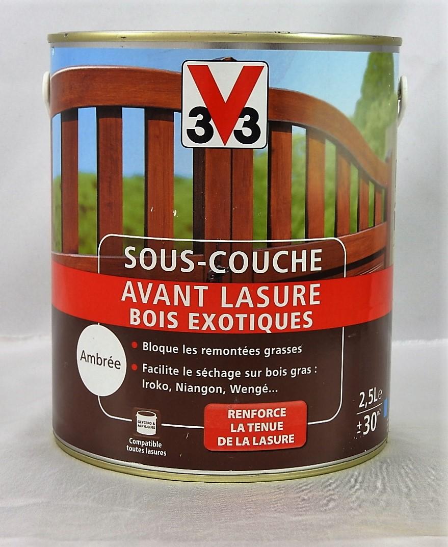 Sous couche avant lasure bois exotiques ambr e v33 2 5 l v33 009619 g 39 peint destockage de - Sous couche bois liberon ...