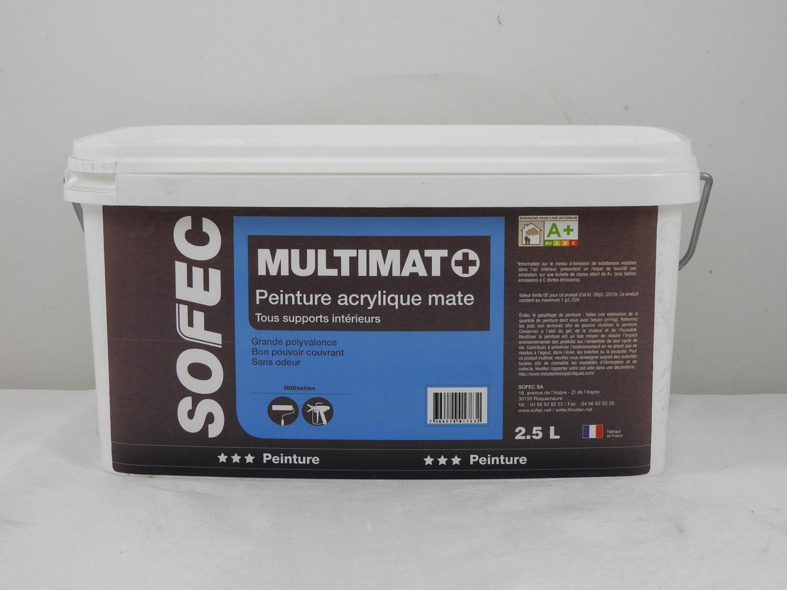 Peinture Acrylique Blanche Multimat Sofec 25l Sofec 2366820012462